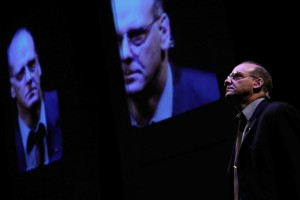 Andrew Wheeler as Robert McNamara in RE:UNION. Photo by Ron Reed